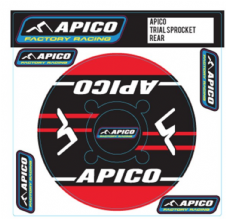 APICO TRIALS REAR SPROCKET STICKER 40T RED